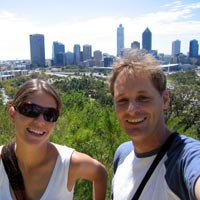 Clare and Rob from Kings Park in Perth, Australia