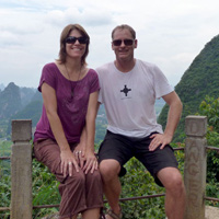Us on Moon Hill near Yangshuo