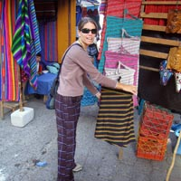 Market shopping in Guatemala