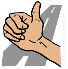 hitch hiking clipart image