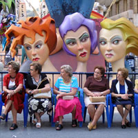 Spanish Ladies in Alicante, Spain